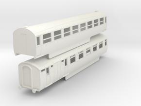 o-76-lner-silver-jubilee-E-F-twin-coach in White Natural Versatile Plastic