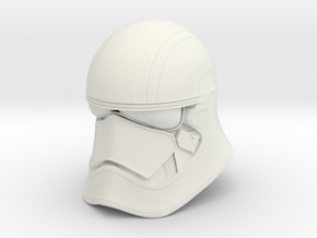 Phase Helmet in White Natural Versatile Plastic: Small