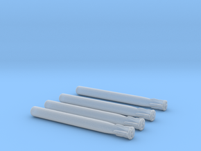1/192 Scale  Scale Torpedo MK 48 Set of 4 in Smooth Fine Detail Plastic