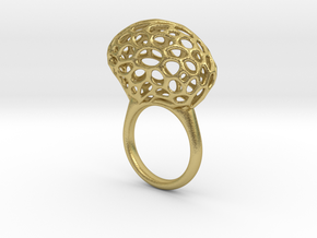 RING PEBBLE TIS V25  in Natural Brass