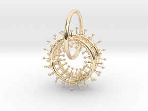 ATOMS ARRAY PENDANT in 14k Gold Plated Brass