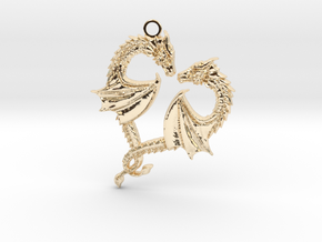 Dragon Heart in 14K Yellow Gold