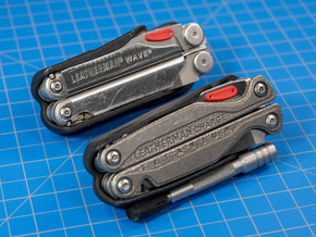 Thumb Tabs for Leatherman Wave or Charge in Red Processed Versatile Plastic