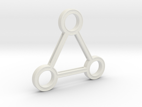 Triforce Artifact in White Natural Versatile Plastic