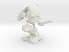 Viking Horde Warrior 80mm in White Natural Versatile Plastic