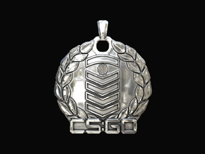 CS:GO - Silver Elite Pendant in Polished Silver
