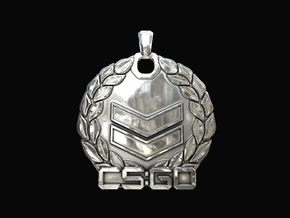 CS:GO - Silver 2 Pendant in Polished Silver