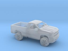 1/160 2019 Chevrolet Silverado Reg Cab Regular Bed in Smooth Fine Detail Plastic