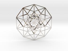 "5D Hypercube 2.75"" in Platinum"
