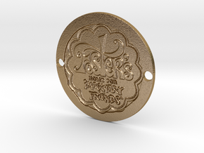 Foster's Home Sideplate  in Polished Gold Steel