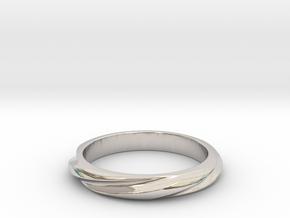Helix Cut (Inside diameter 16.6 mm) in Platinum