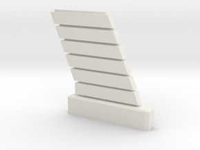 1:72 Viper Bay Wall (D) in White Natural Versatile Plastic