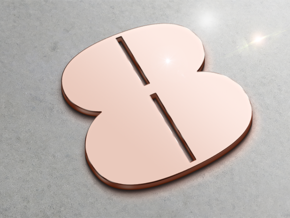 Numerical Digit Eight Pendant in 14k Rose Gold