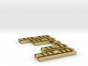 Bladeholder add On in Natural Brass
