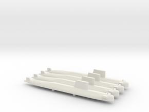 Agosta 70 SSK x 4, 1/700 in White Natural Versatile Plastic