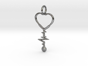 Love & Medicine  in Polished Silver