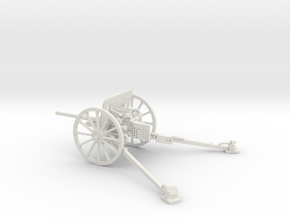 1/32 IJA Type 94 37mm Anti-Tank Gun in White Natural Versatile Plastic