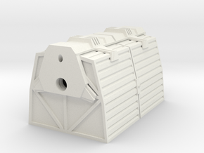 1:72 Work Bee Cargo Carrier in White Natural Versatile Plastic