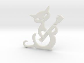 Banjo cat in White Natural Versatile Plastic