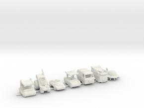 SATURDAY TOON CARS 160 scale in White Natural Versatile Plastic