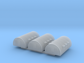 1/600th scale Nissen hut (3 pieces) in Smooth Fine Detail Plastic