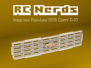 RCN230 Grill for Chevy K-10 Pro-Line in White Natural Versatile Plastic