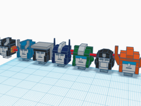 Heads for Trainbot Kreons (Set 2 of 2) in Smooth Fine Detail Plastic