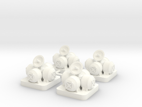 Mini Space Program, Space Outpost, 4-set in White Processed Versatile Plastic