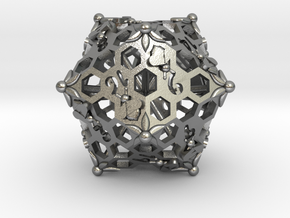 D20 Balanced - Bees in Natural Silver