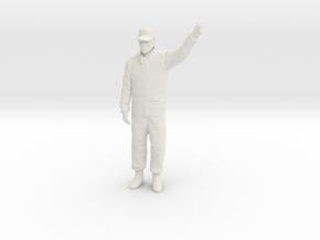 1/12 Formula Racing Driver in White Natural Versatile Plastic