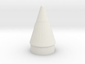 Booster Nose Cone in White Natural Versatile Plastic