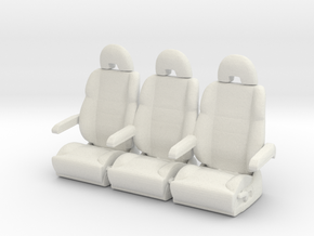 Printle Thing Plane Seat x 3 - 1/24 in White Natural Versatile Plastic