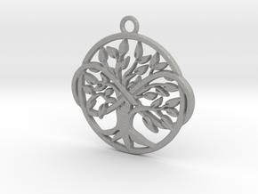 Tree of life and infinite symbol in Aluminum