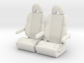 Printle Thing Plane Seat x 2 - 1/24 in White Natural Versatile Plastic
