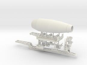 1/50th Sliding Cement Mixer Trailer in White Natural Versatile Plastic