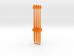 Magno Galactic Swords in Orange Processed Versatile Plastic: Large