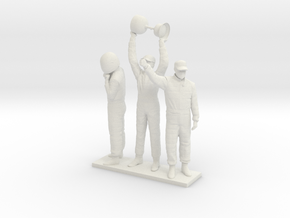 1/18 180cm Three Racing Drivers in White Natural Versatile Plastic