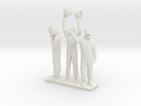 1/18 180cm Three Racing Drivers in White Natural Versatile Plastic