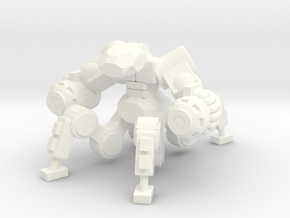6mm - Warbot in White Processed Versatile Plastic