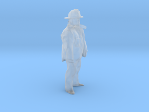 O Scale Fireman in Smooth Fine Detail Plastic