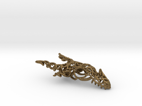 Dragon of Swirls in Natural Bronze