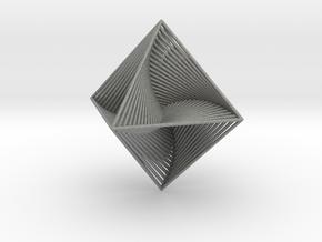 0048 Octahedron Line Design (10 cm) #002 in Gray PA12