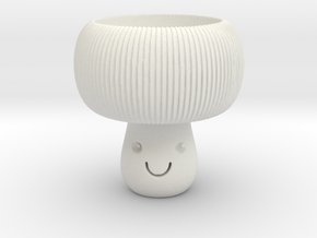 Mushroom Tealight Holder in White Natural Versatile Plastic