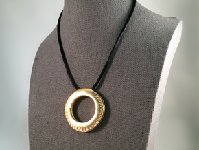 Spiral Ring Pendant in Natural Brass