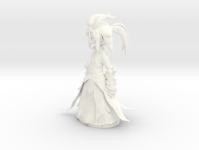 Slooty Asura in White Processed Versatile Plastic