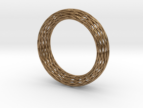 Toroidal Knot Bangle in Natural Brass