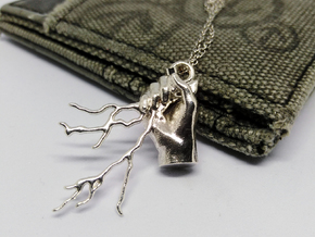 Zeus Thunder Pendant in Natural Silver