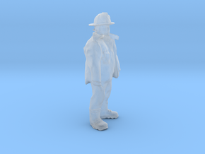 HO Scale Fireman in Smooth Fine Detail Plastic