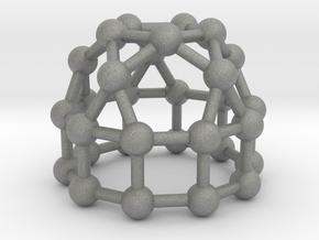 0778 J21 Elongated Pentagonal Cupola (a=1cm) #3 in Gray PA12