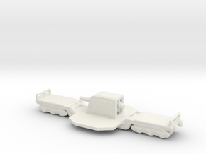 15cm Kanone Eisenbahnlafette 1/285 6mm turret in White Natural Versatile Plastic